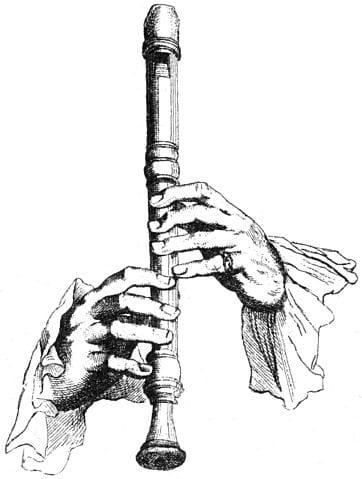 Aula de Flauta Doce em Curitiba Escola de Música Ritmo e Som Ilustração de Jacques Hotteterre